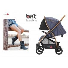 BXT JEANS BLUE ruote grandi - passeggino leggero, chiusura Lampo, traspirante full optional, Baciuzzi