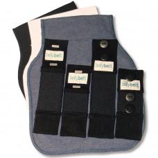 Belly Belt - Fascia allarga pantaloni Donna, colori: Jeans, Bianco e Nero, (pacco da 3)