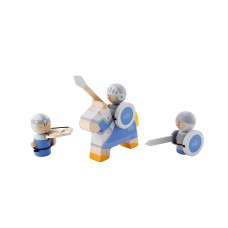 Sevi - Set Guerrieri Azzurri, 3 Pezzi