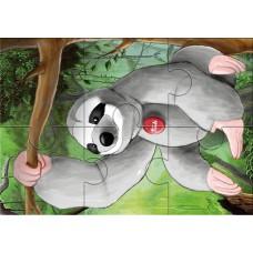 Trudi - Flock Puzzle Animali Esotici, 3-in-1