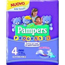 Pampers Progressi Pannolini Maxi, Taglia 4 (7-18 kg), 24 Pannolini