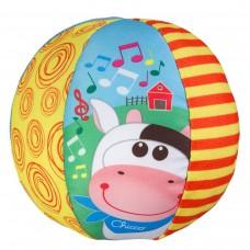 Chicco Morbida palla musicale realizzata con tessuti diversi