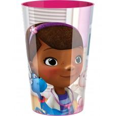 Bicchiere 24 cl Dottoressa Peluche in plastica per bambini