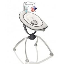 Babymoov Swoon-Up Sdraiolone Regolabile su 2 Altezze, Alluminio/Bianco