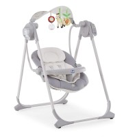 Chicco Altalena Polly Swing Up, 0m+, Argento