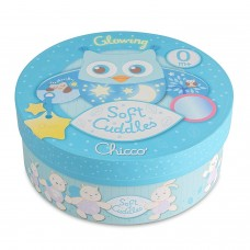 Chicco Soft Cuddles Pannello, Gufo, Azzurro