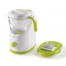 Chicco Easy Meal Cuocipappa, Cottura a Vapore e Omogenizzatore, Bianco e Verde