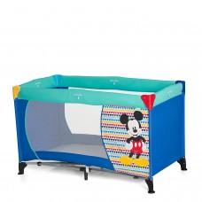 Hauck Lettino da Viaggio 3 pezzi per neonati e bambini fino a 15 kg mickey geo blue (blu)