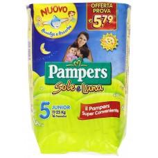 Pampers Sole e Luna Pannolini Junior, Taglia 5 (11-25 kg), 16 Pannolini