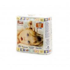 Trudi BabyDry Fit Pannolino Taglia M 4–9kg, 1 Pacco (20pezzi), bianco