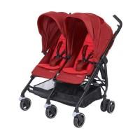 Bébé Confort Dana For 2 Passeggino Gemellare Fratellare Compatto, Reversibile Reclinabile, Sedute Affiancate, Vivid Red