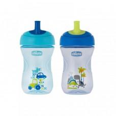 Chicco Advanced Tazza Antigoccia, Bambino, 12m+, Azzurro/Blu
