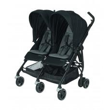 Bébé Confort Dana For2 Passeggino Gemellare Fratellare Compatto, Reversibile Reclinabile, Sedute Affiancate, Nomad Black