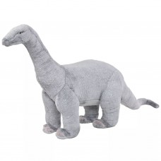 vidaXL Dinosauro Brachiosauro di Peluche Giocattolo Grigio XXL