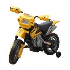 Minimoto cross elettrica per bambini, gialla