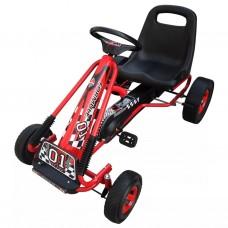 Go-kart a pedali per bambini, sedile regolabile, rosso