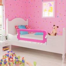 vidaXL Barriera di Sicurezza per Letto Bambino 102 x 42 cm Rosa