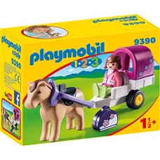 PLAYMOBIL Carrozza con cavallo 1.2.3.