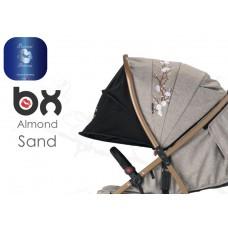 BX ALMOND SAND passeggino super leggero, chiusura Lampo, traspirante full optional,  BACIUZZI PLATINUM