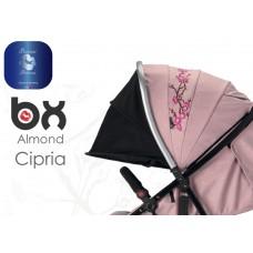 BX ALMOND CIPRIA  passeggino super leggero, chiusura Lampo, traspirante full optional,  BACIUZZI PLATINUM