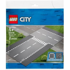LEGO CITY Basi Rettilineo e incrocio a T