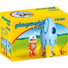 PLAYMOBIL Razzo con astronauta 1.2.3