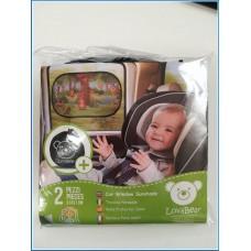 Arcol Tendine Parasole Auto Bambini Premium - Protezione Raggi UV Superiore con Trattamento SunShied+, 2 Pezzi 51x31cm, Tende da Sole Statiche Adesive Senza Ventose per Finestrino Laterale (Orsetto)
